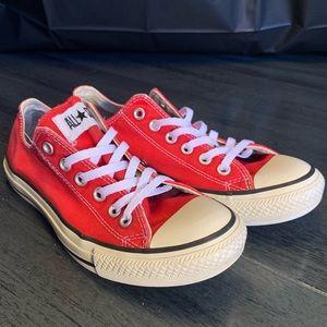 Women's Red Converse SZ 8